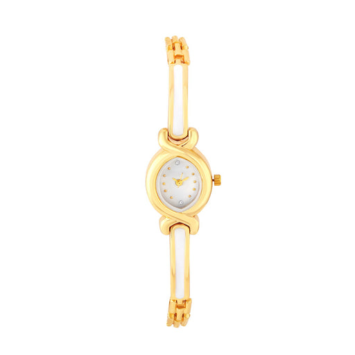 Shostopper White Dial Analogue Watch For Women SJ62074WWV