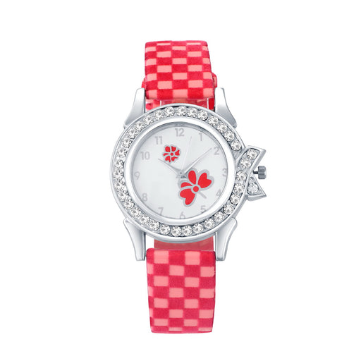 Shostopper Checks White Dial Analogue Watch For Women SJ62077WWV