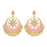 Sukkhi Dazzling Pearl Gold Plated Kundan Meenakari Chandbali Earring for Women