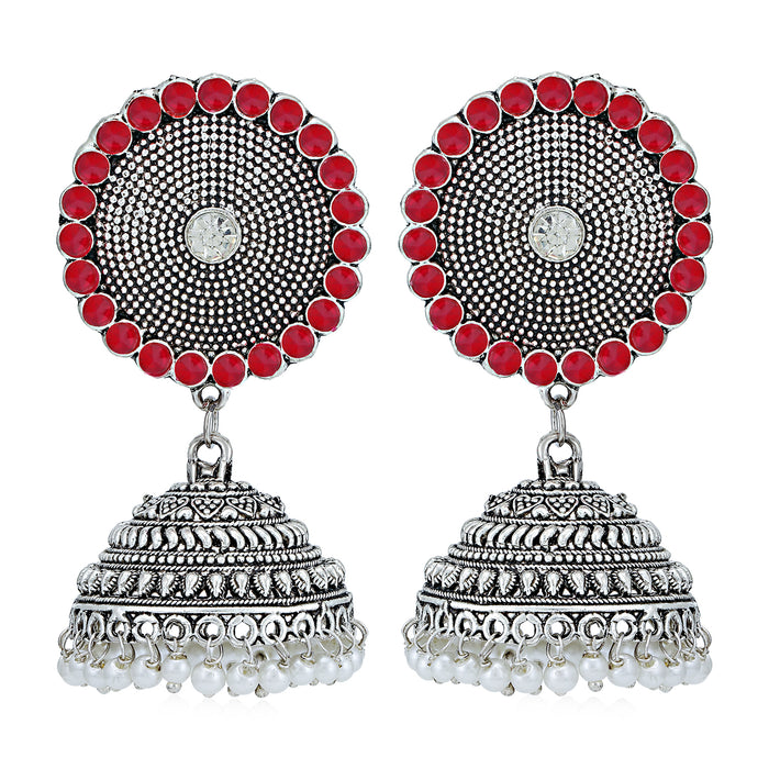 Sukkhi Ritzy Oxidised Pearl Jhumki Earring for Women