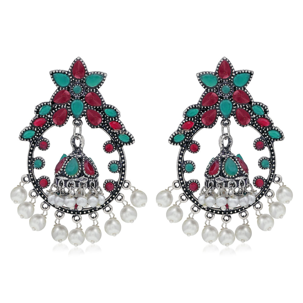 Sukkhi Fancy Oxidised Pearl Dangle Earring For Women