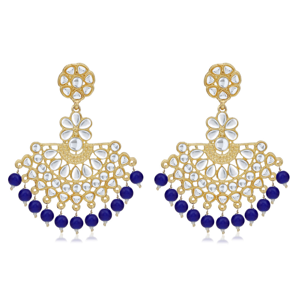 Sukkhi Delightful Gold Plated Kundan Chandbali Earring For Women