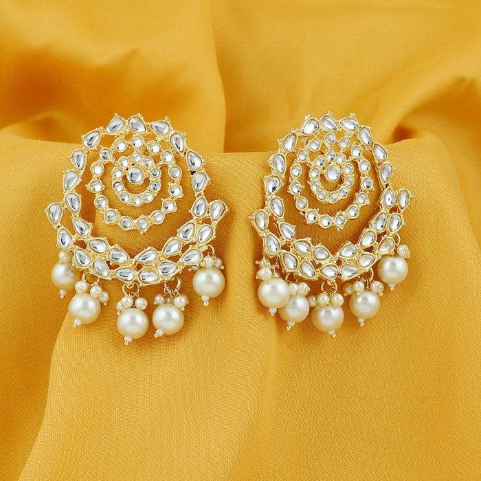 Sukkhi Splendid Pearl Gold Plated Kundan Dangle Earring For Women