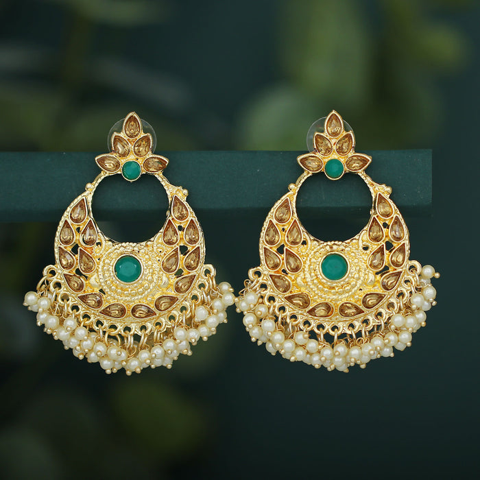 Sukkhi Delightful LCT Gold Plated Pearl Chandbali Earring For Women