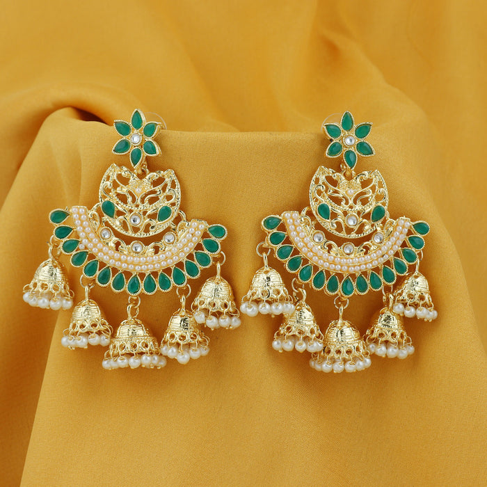 Sukkhi Exotic Pearl Gold Plated Floral Chandbali Earring For Women