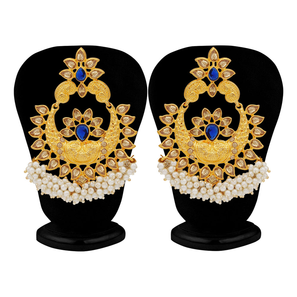 Sukkhi Blemish LCT Gold Plated Pearl Chandbali Earring For Women