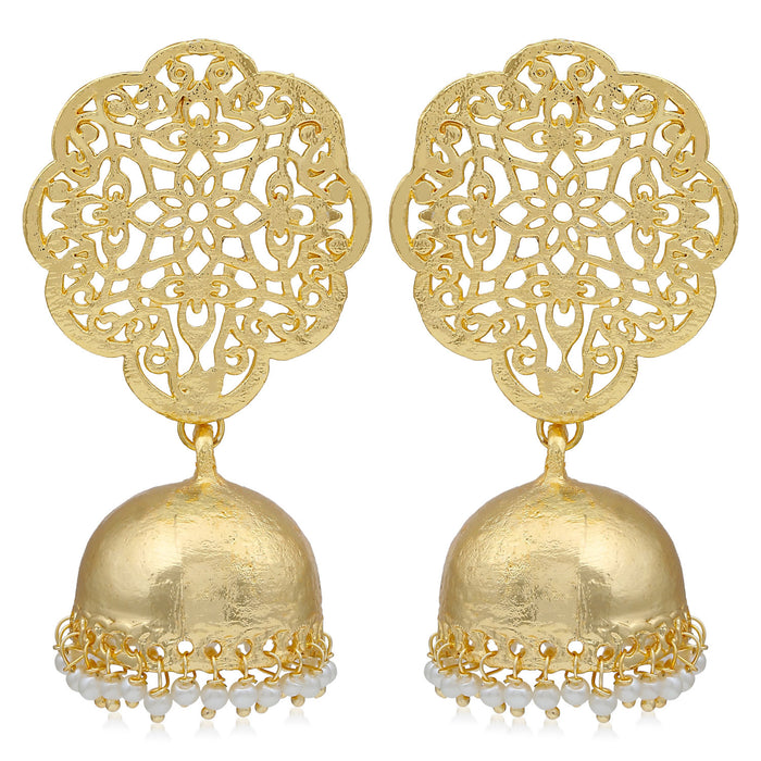 Sukkhi Equisite Gold Plated Pearl Jhumki Earring For Women