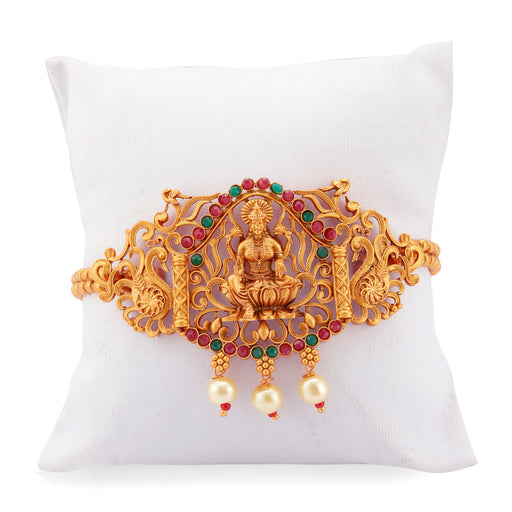 Sukkhi Artistically Pearl Gold Plated Goddess Laxmi Bajuband For Women