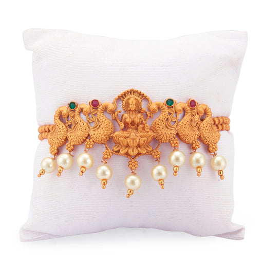 Sukkhi Gorgeous Pearl Gold Plated Goddess Laxmi Bajuband for Women