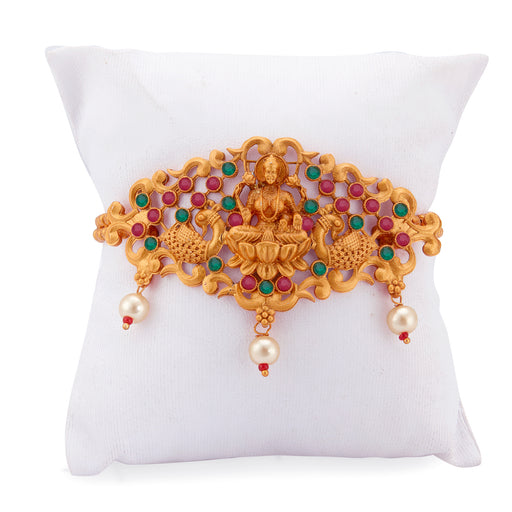Sukkhi Sensational Pearl Gold Plated Goddess Laxmi Bajuband for Women