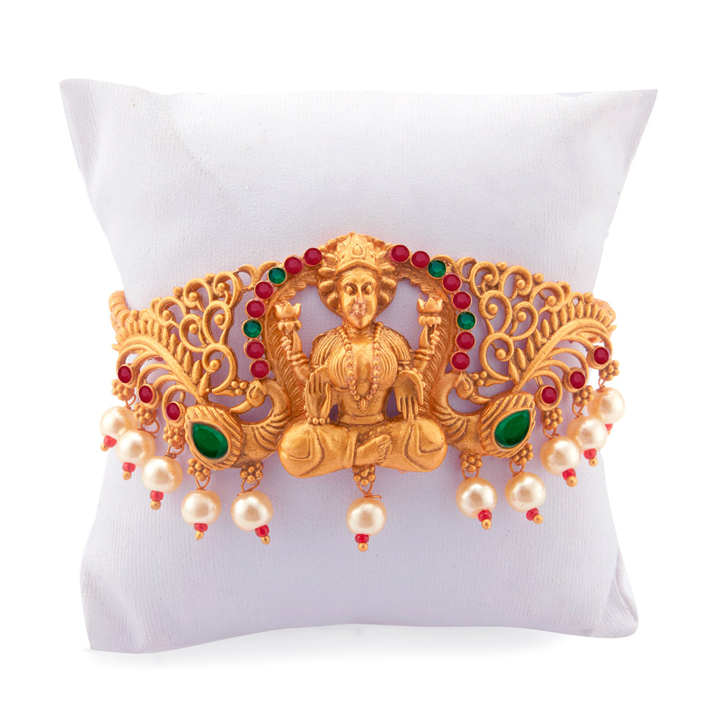 Sukkhi Exotic Gold Plated Pearl Bajuband for Women