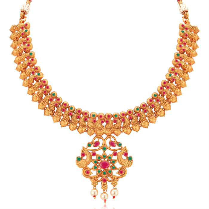 Sukkhi Exclusive Gold Plated Pearl Collar Necklace Set for Women