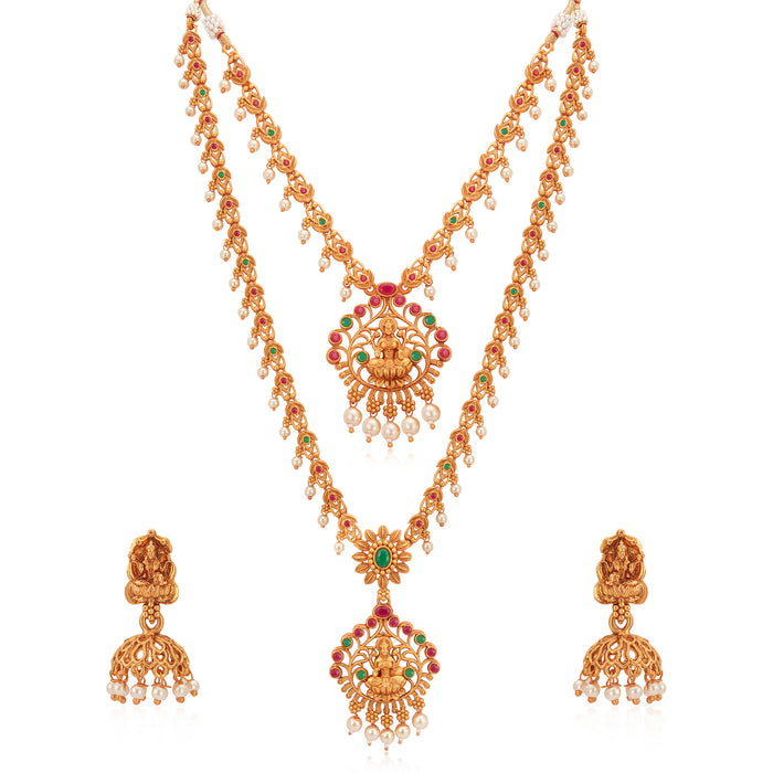 Sukkhi Lavish Pearl Gold Plated Long Haram Necklace Set for Women