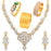 Sukkhi Glorious Gold Plated Pearl Peacock Meenakari Jewellery Combo for Women