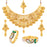 Sukkhi Ethnic Gold Plated Pearl Peacock Meenakari Kada + LCT Choker Necklace Combo for Women
