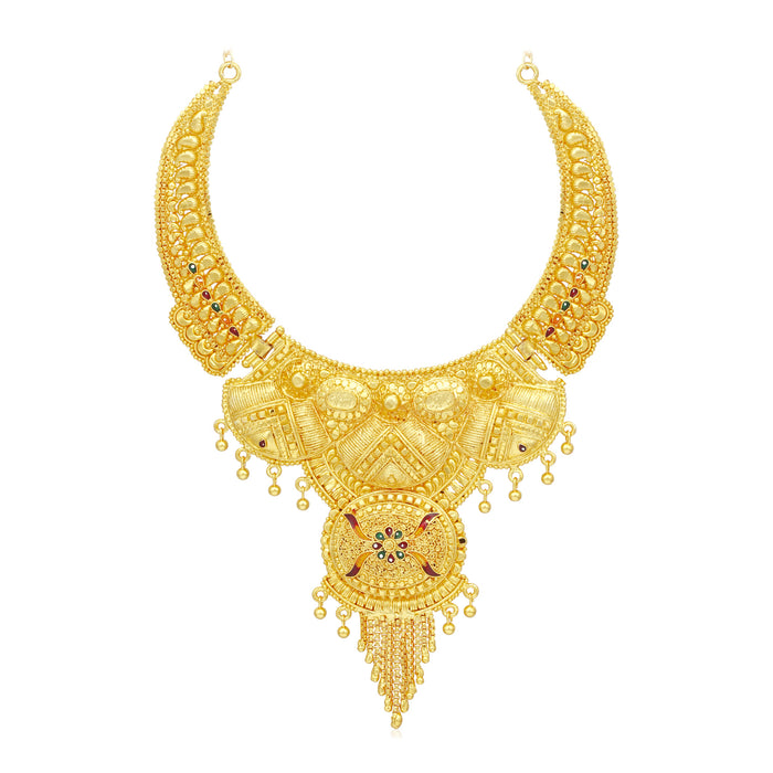Sukkhi Lovely 24 Carat Gold Plated Meenakari Choker Necklace Set for Women