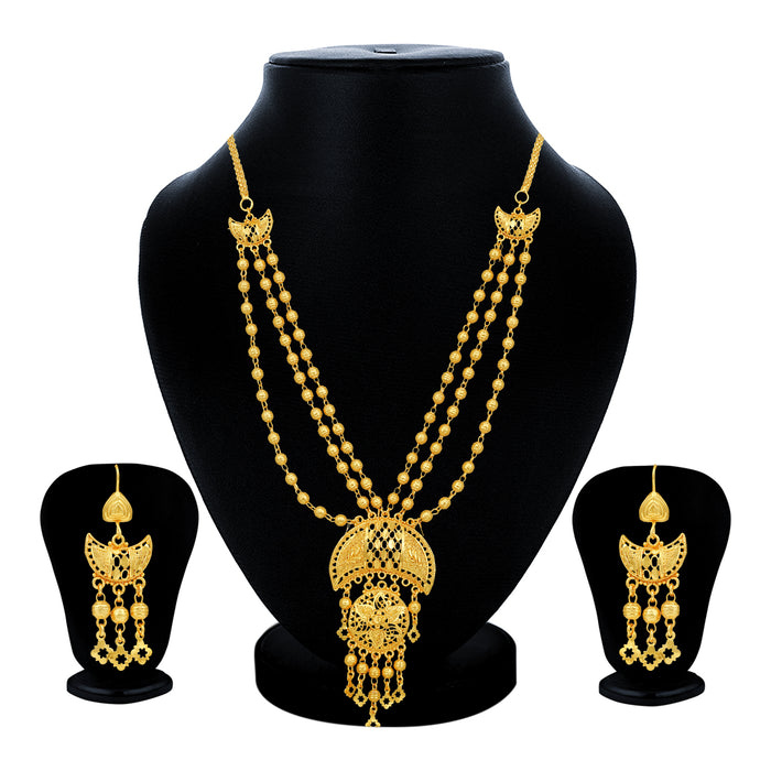 Sukkhi Marvelous 24 Carat Gold Plated Multi-String Necklace Set for Women