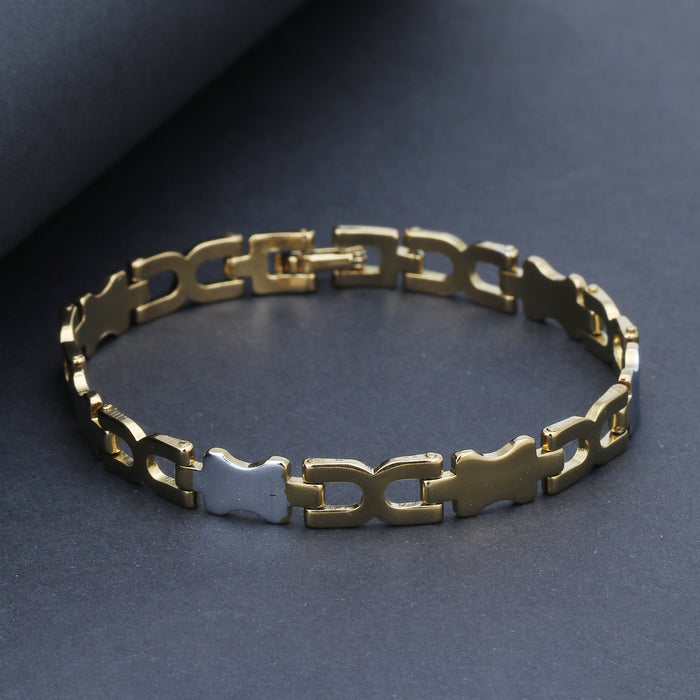 Sukkhi Amazing Gold & Rhodium Plated Bracelet for Men