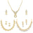 Sukkhi Glimmery Gold Plated Austrian Diamond Necklace Combo Set of 3 for Women