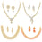 Sukkhi Glittery LCT Gold Plated Austrian Diamond Necklace Combo Set of 4 for Women