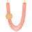 Sukkhi Trendy Gold Plated Baby Pink Pearl Long Haram Necklace Set for Women