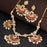 Sukkhi Fancy Gold Plated Meenakari Chandbali Necklace Set For Women