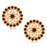 Sukkhi Amazing Kundan Gold Plated Maroon & White Pearl Choker Necklace Set for Women