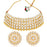 Sukkhi Glorious Kundan Gold Plated Golden & White Pearl Choker Necklace Set for Women