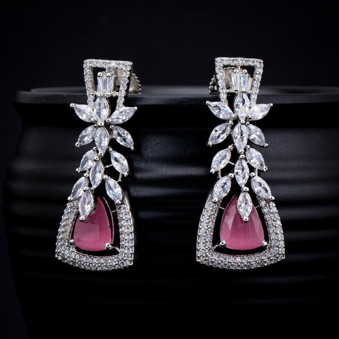 Sukkhi Ravishing CZ Rhodium Plated Drop Earring for Women