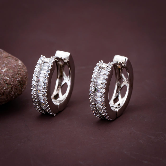 Sukkhi Gleaming CZ Rhodium Plated Stud Earring for Women