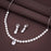 Sukkhi Equisite CZ Rhodium Plated Choker Necklace Set for Women