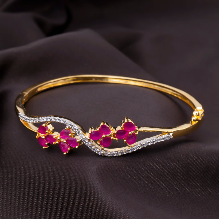 Sukkhi Attractive CZ Gold Plated Kada For Women