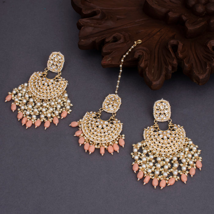 Sukkhi Gleaming Gold Plated Dangle Earring Mangtikka For Women