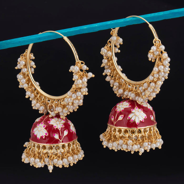 Sukkhi Magnificent Jhumki Gold Plated Mint Earring For Women