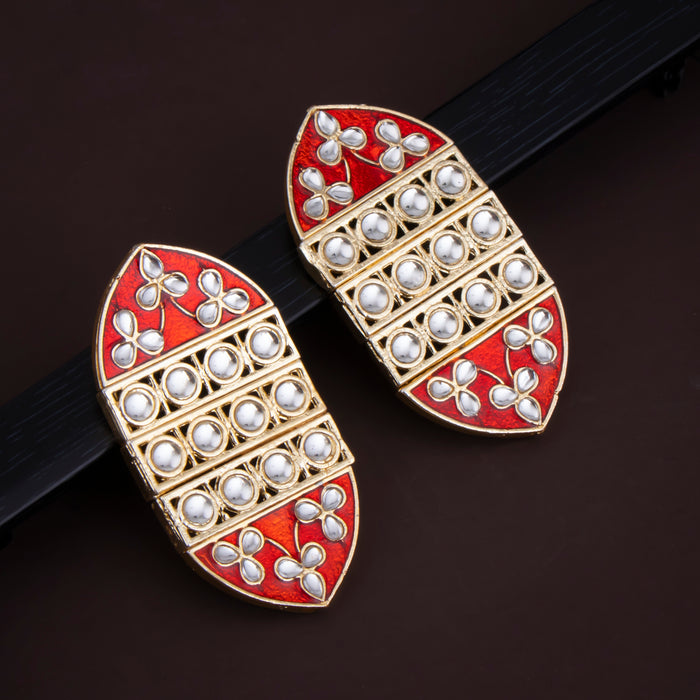 Sukkhi Sublime Stud Gold Plated Kundan & Mint Earring For Women