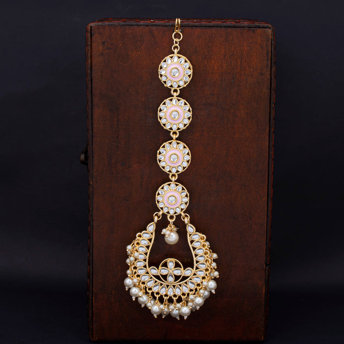 Sukkhi Gorgeous Gold Plated Kundan & Pearl Mangtikka For Women