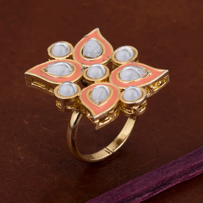 Sukkhi Mesmerizing Kundan Gold Plated Ring for Women
