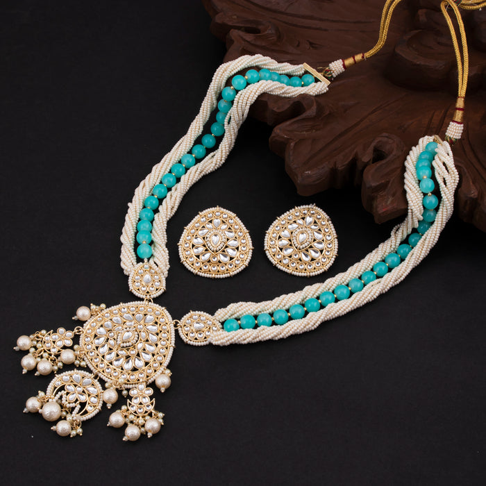 Sukkhi Royal Gold Plated Kundan & Pearl Necklace Set For Women