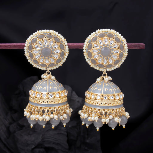 Sukkhi Elegant Jhumki Gold Plated Kundan Pearl Earring For Women
