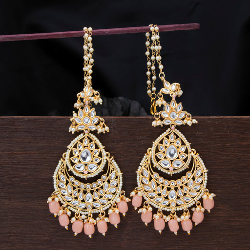 Sukkhi Astonish Chandbali Gold Plated Kundan Pearl Earring For Women