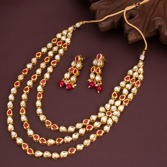 Sukkhi Dazzling Kundan Pearl Gold Plated Choker Necklace Set for Women