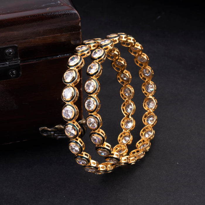 Sukkhi Fascinating Gold Plated CZ Bangles For Women