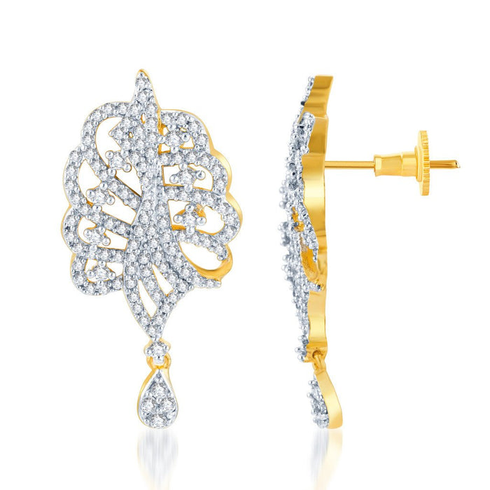 Pissara Eye-Catchy Gold and Rhodium plated CZ Pendant Set -2