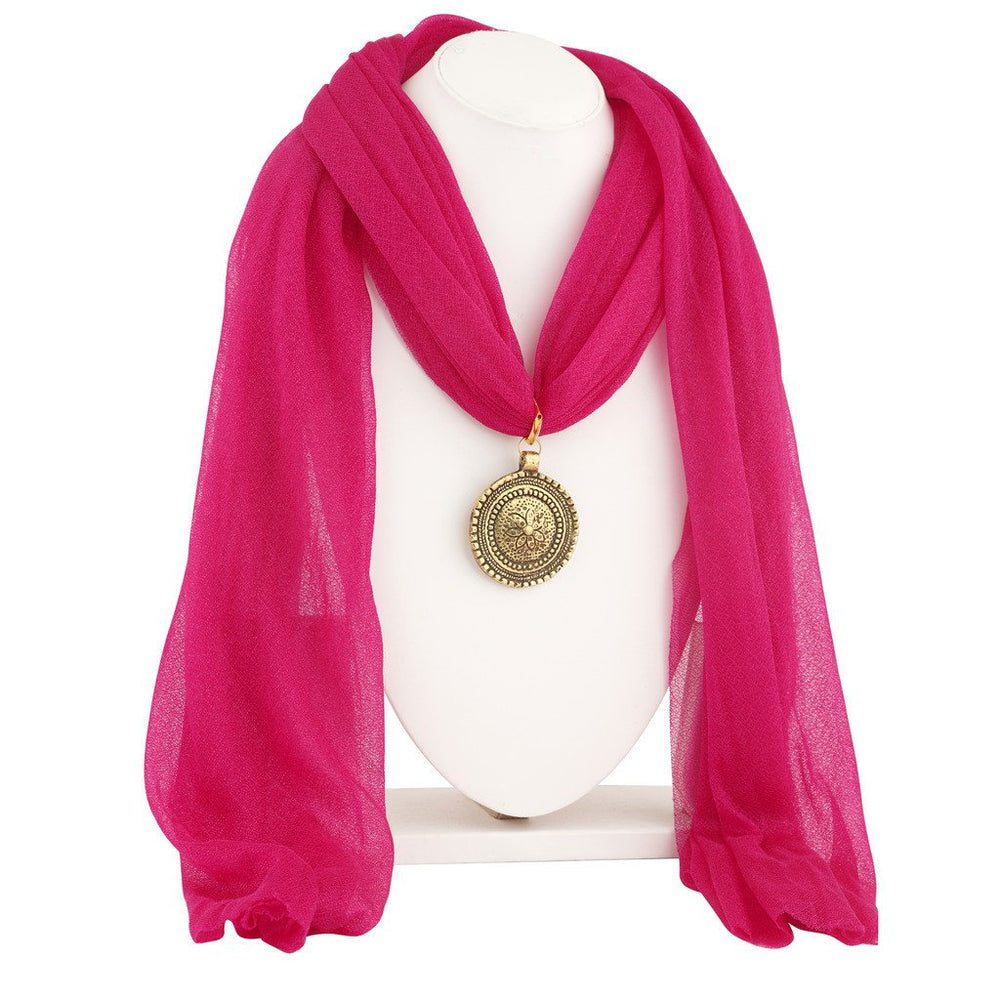 Sukkhi Marquise Gold Plated Scarf Necklace With Chain For Women