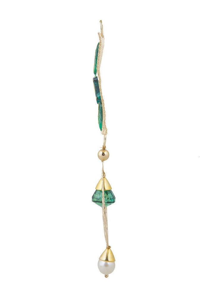 Sukkhi Elegant Shubh Labh Door Hanging in Golden and Green-2