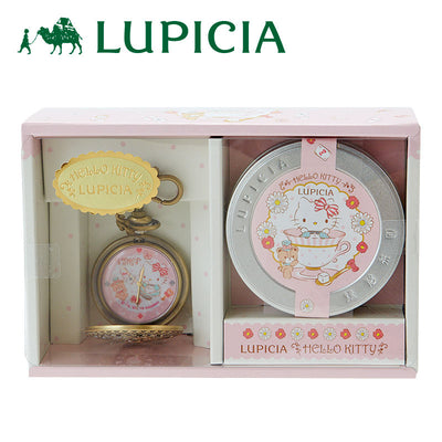 Sanrio Hello Kitty LUPICIA Pocket Watch & Flavored Tea Set
