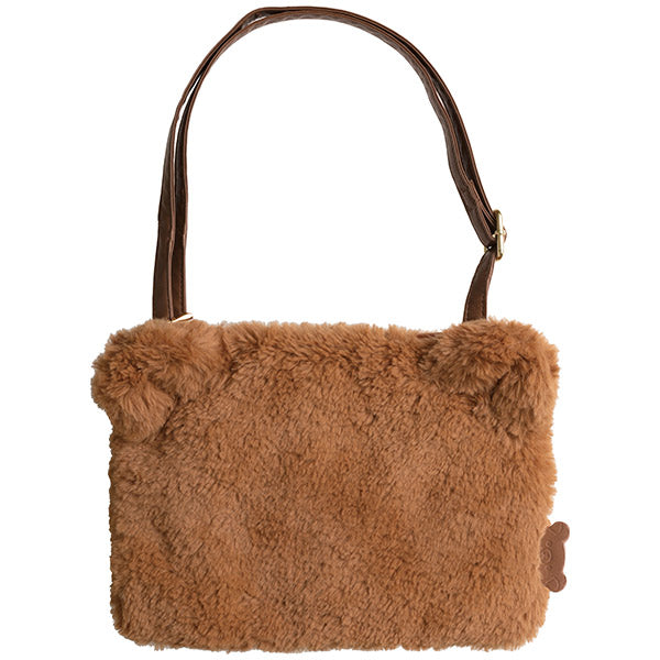 San-X Rilakkuma Fur Sacoche Shoulder Bag (Camel)