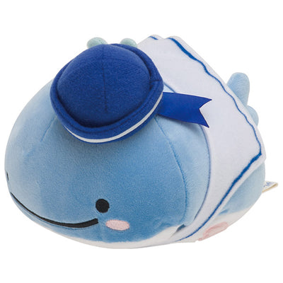 San-X Jinbesan with Deep sea Friends Whale Super Mochi-Mochi Plush Doll