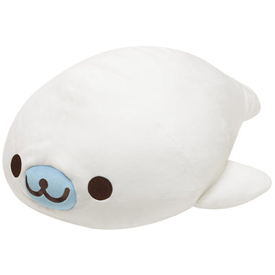 San-X MAMEGOMA COLLECTION in Aquarium Shirogoma Super Mochi Mochi Plush Doll LL