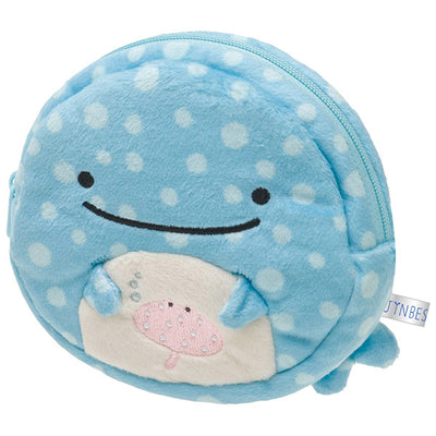 San-X Jinbesan Face Plush Doll Coin Case